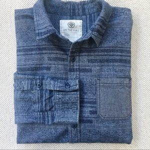 MENS: ON THE BYAS Brushed Cotton Button Down